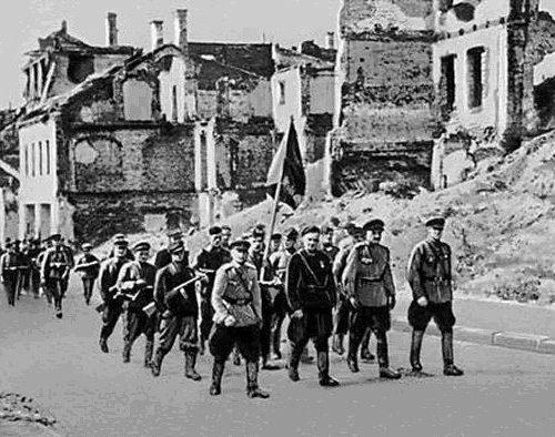 Partisanos entran en Minsk