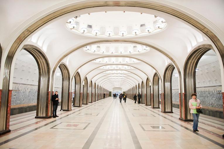 """La estación """"Mayakovskaya"""" actualmente"""