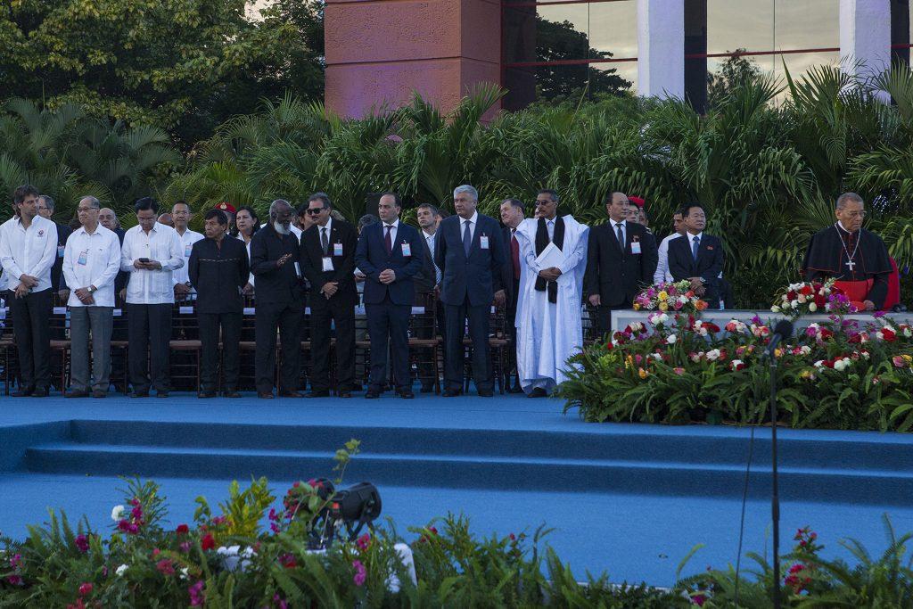 Празднование инаугурации Президента  Даниэля Ортеги и Вице Президента Росарио Мурильо.. -  Приглашённые делегации