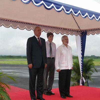 Встреча Президента Республики Абхазия Сергея Багапш министра иностранных дел Никарагуа Самуэля Сантоса Лопеса в Абхазии