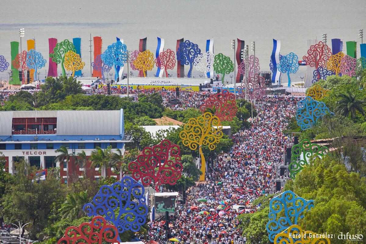 Празднование 40-летия Сандинистской революции.
