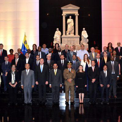 Чрезвычайный и Полномочный посол Республики Абхазия Заур Гваджава на мероприятии Никарагуа в Национальном пантеоне Венесуэлы