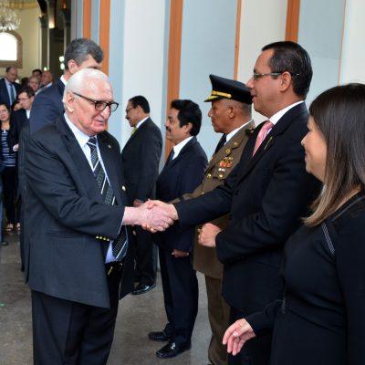 Чрезвычайный и Полномочный Посол Республики Абхазия Заур Гваджава и Чрезвычайный и Полномочный Посол Республики Никарагуа Яоска Кальдерон в Национальном Пантеоне на мероприятие посольства Никарагуа