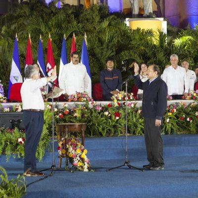 Церемония инаугурации Президента  Даниэля Ортеги и Вице Президента Росарио Мурильо.