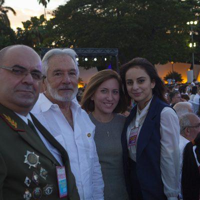 Министр иностранных дел Самуэль Сантос Лопес вместе с заместителем министра иностранных дел Республики Абхазия Олегом Аршба